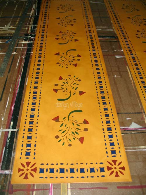 Early American Flowers Floorcloths Design Village