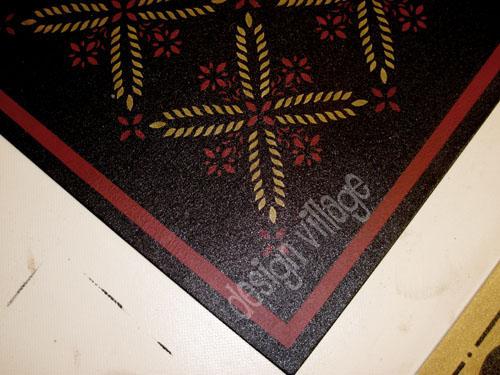 Colonial Flower Floorcloth Design Village Floorcloths