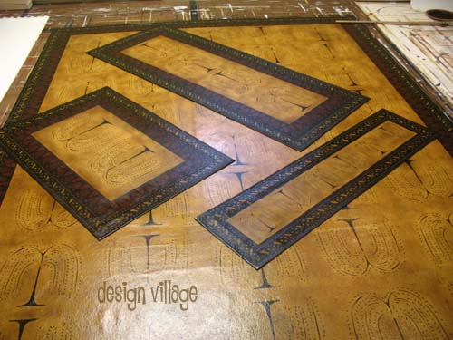 Primitive Willow Floorcloths And Table Runner Design