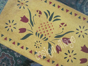 Vintage Brocade Floorcloth