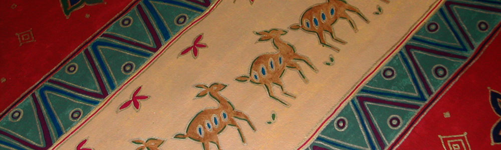 Deer Floorcloth