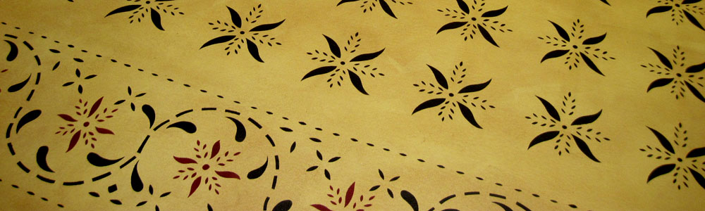 May House Floorcloth in Pine Yellow