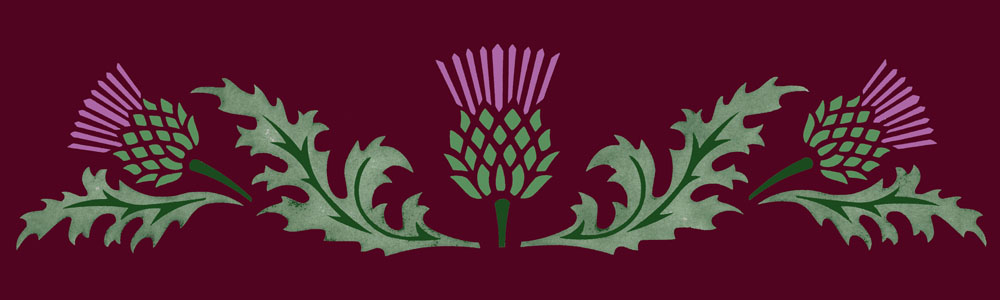 Thistle Design Floorcloth
