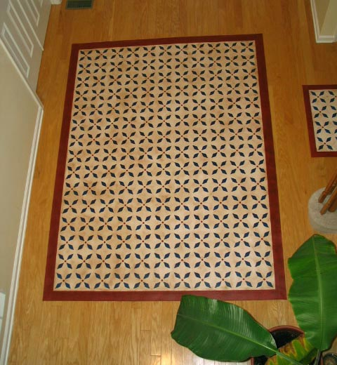 Colonial Blue Floorcloth
