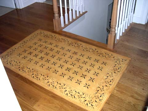 May House Floorcloth on Landing