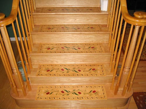 Floorcloth on Stairs