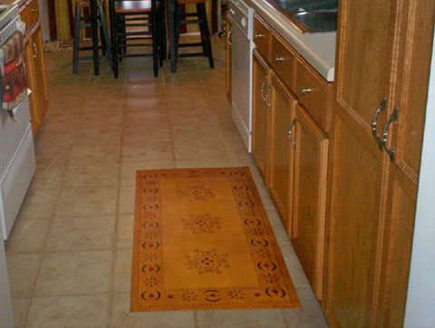 Sage House Floorcloth