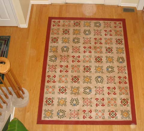 Baltimore Sampler Quilt Floorcloth
