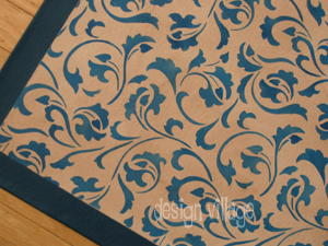 Acanthus Scroll Floorcloth