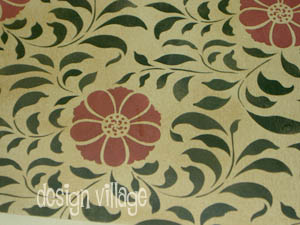 Valley of Flowers floorcloth - Floral Collection