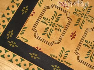 Bump Tavern Floorcloth - Historic Collection