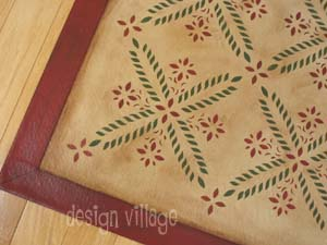 Colonial Flower Floorcloth 5