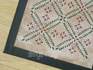 Colonial Flower Floorcloth 6