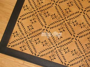 Colonial Flower Floorcloth 7