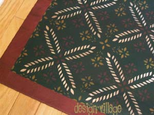 Colonial Flower Floorcloth 3- Green