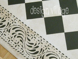 Diamond Pattern with Rosedale Border
