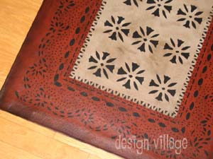Ebenezer with Wheeler Border Floorcloth 2