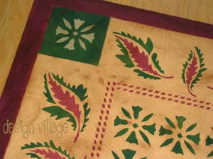 Grant House Oak Leaf Floorcloth