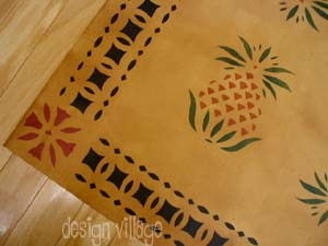 Early American Pineapple Floor cloth #2