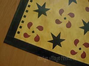 Pinwheels and stars Floorcloth