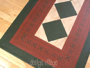 Sherwood Floorcloth with Diamonds
