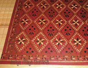 Wayside Inn Floorcloth 4 in Barnyard Red