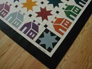 House n Star Quilt Floorcloth