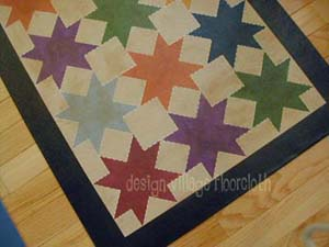 Star Quilt Floor Cloth