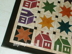 Stars n House Quilt Floorcloth