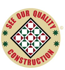 Picture of Quality Construction Seal. Click here to see our quality construction.